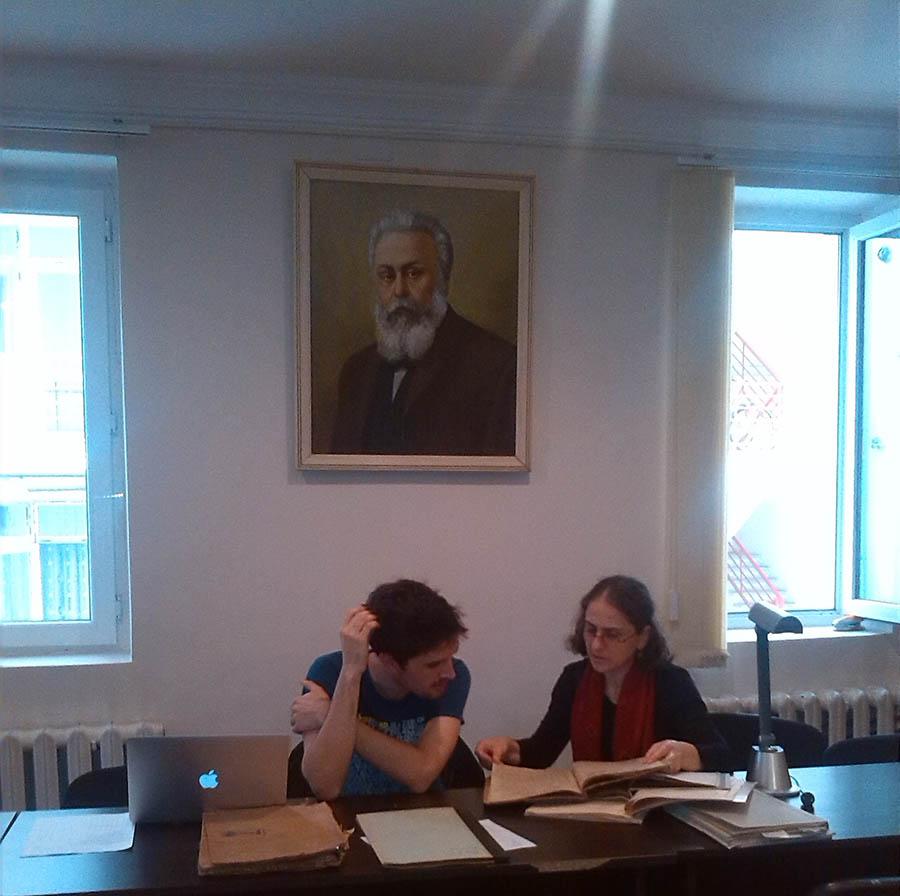 2 ეთენ პიერო, ფრანგი მკვლევარი და არქივის თანამშრომელი მზია სურმანიძე