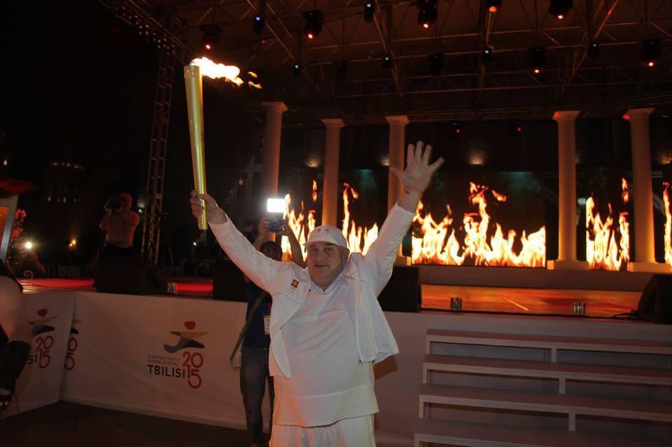 ოლიმპიური ცეცხლი ბათუმის პიაცაზე განთავსდა