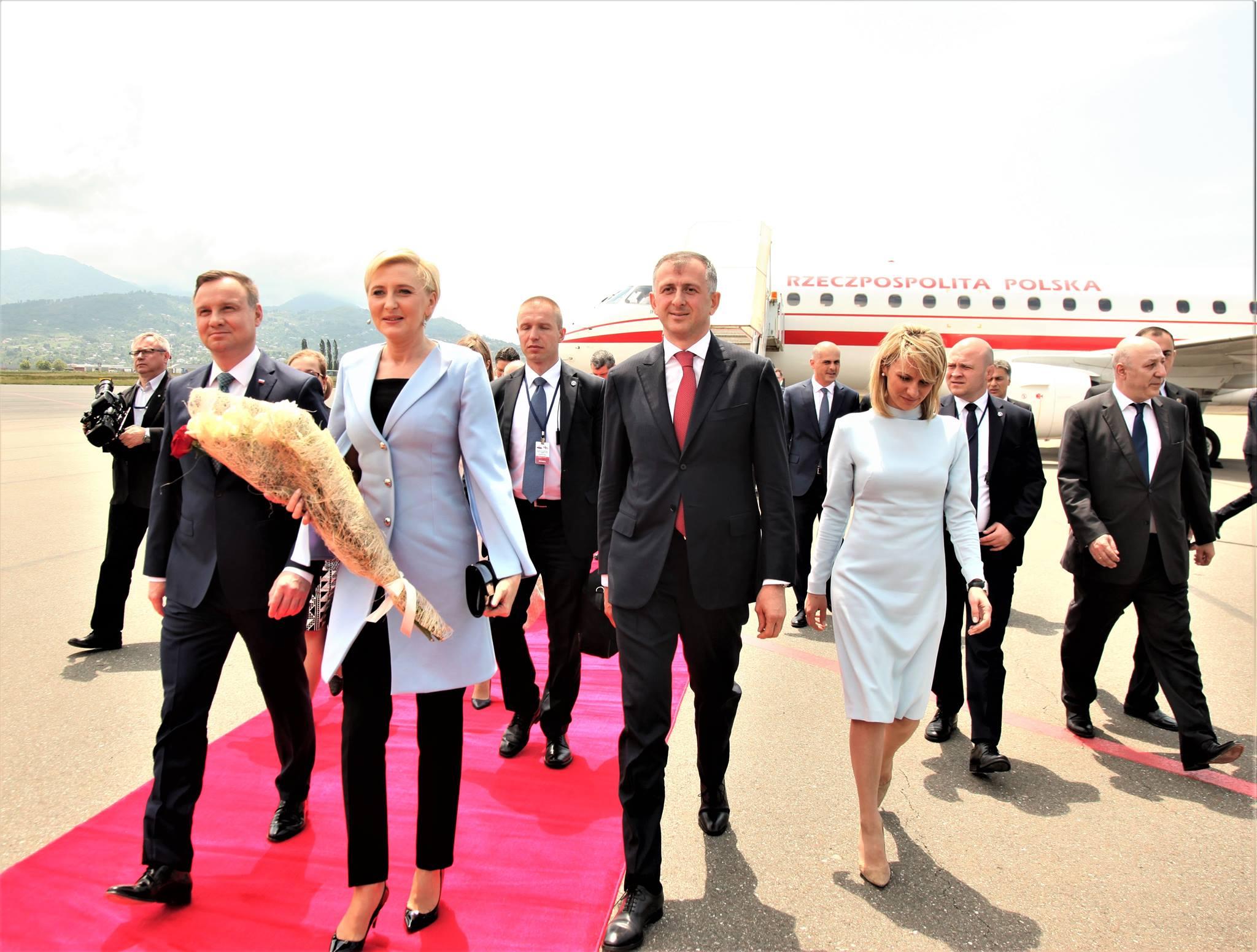 ბათუმს პოლონეთის რესპუბლიკის პრეზიდენტი ანდჟეი დუდა ეწვია