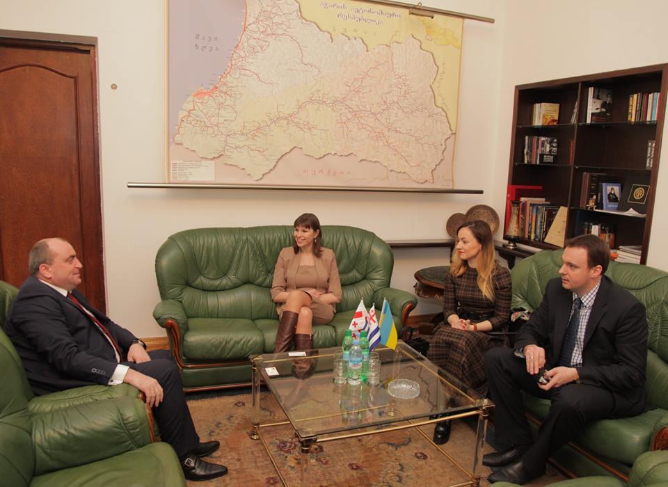 არჩილ ხაბაძე უკრაინის მინისტრთა კაბინეტის მინისტრს ანა ონიშენკოს შეხვდა